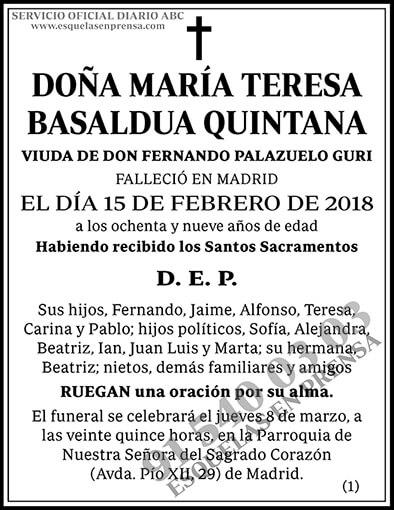 María Teresa Basaldua Quintana